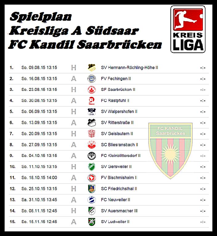 Spielplan Saarbrücken